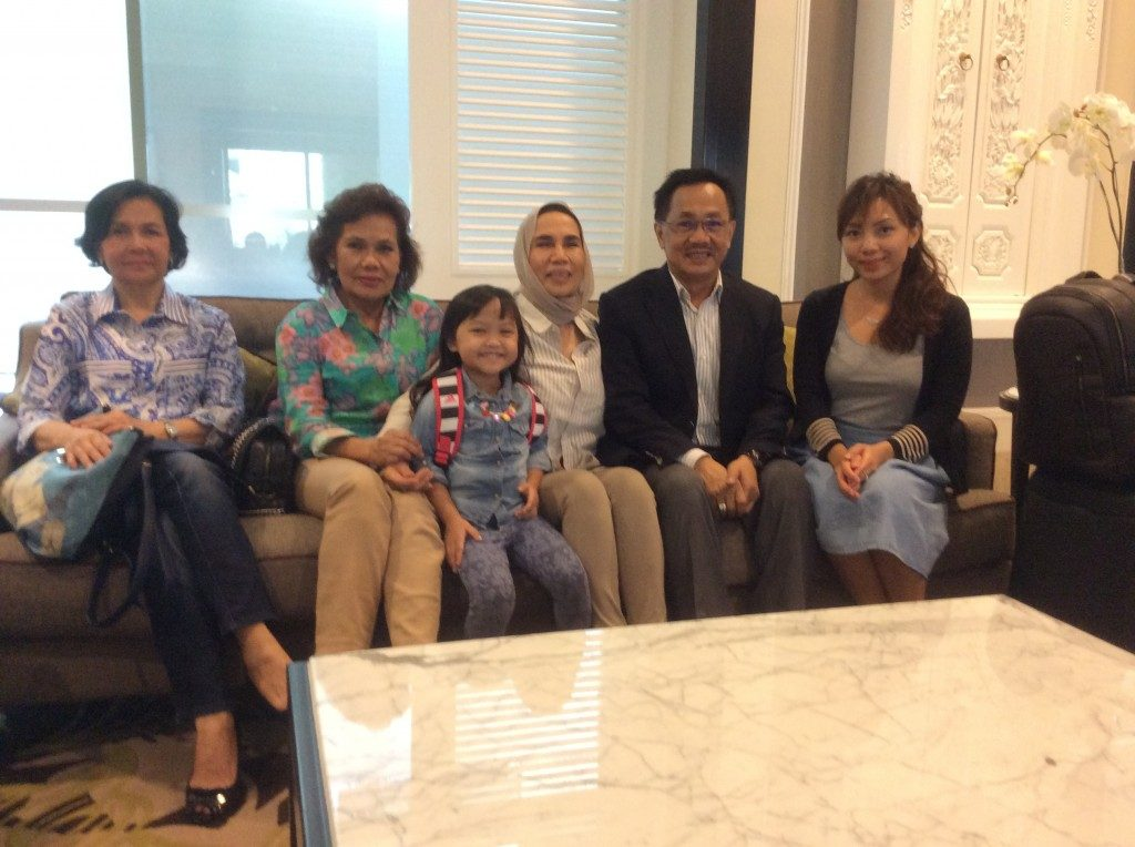 The Pillar Foundation President, met with family members in Jakarta during transit to Semerang centre for the Homeless.